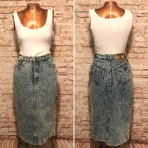Vintage 1980s Jordache High Waist Denim Skirt